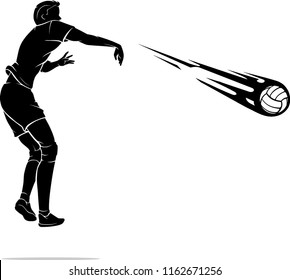 Volleyball Male Spike Power, Silhouette