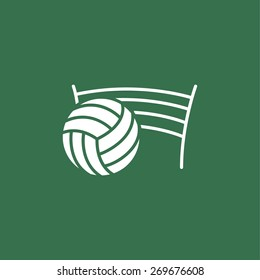 Volleyball net with ball sign icon