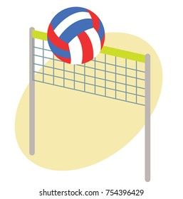 volleyball and net icon