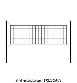 Volleyball Net icon on white, Sport Net, Vector Art Illustration