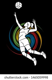 Volleyball player cartoon graphic vector
