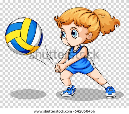Volleyball Player On Transparent Background Illustration Stock