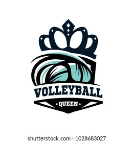 Volleyball Queen Logo Vector