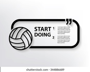 Volleyball Quotation Mark Speech Bubble,design