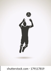 Volleyball setter - vector illustration