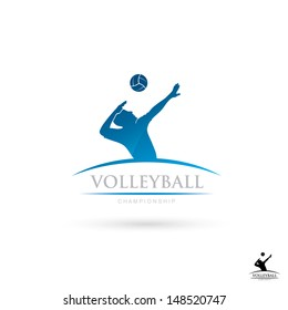 Volleyball sign - vector illustration