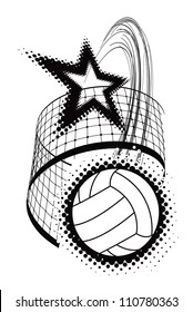 volleyball sport design element. Vector illustration on white