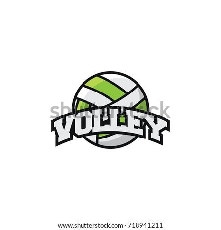 Volleyball Sport Simple Logo Team Vector