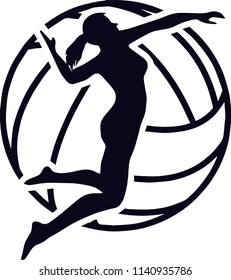 Volleyball Sports Game Logo