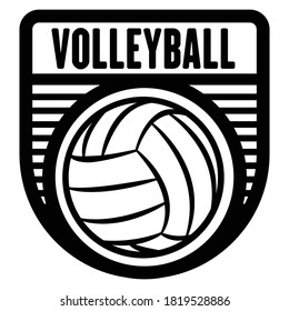 Volleyball sports logo template, vector art graphic. Ideal for volleyball team logo, t-shirt design.