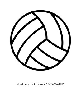 volleyball thin line vector icon