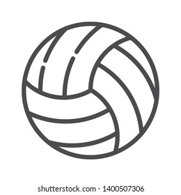 Volleyball vector icon isolated on white background