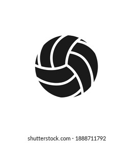Volleyball. Vector illustration of a ball. Isolated on a blank, editable background.