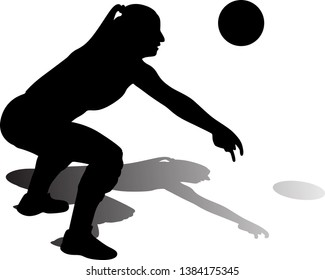 volleyball woman athlete player with a ball