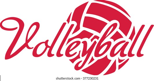 Volleyball Word with ball