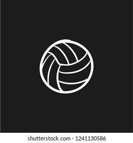 vollyball icon doodle vector flat black