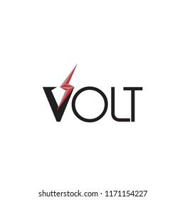Volt logo with flash