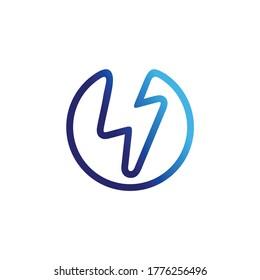 volt logo, modern logo, energy logo
