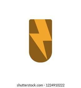 volt power logo design vector