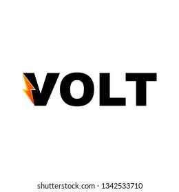 Volt Text Font Logo Design Inspiration