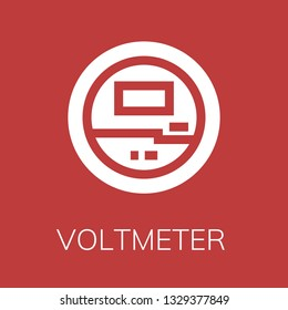 Voltmeter icon. Editable  Voltmeter icon for web or mobile.
