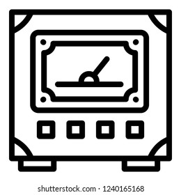 Voltmeter icon. Outline voltmeter vector icon for web design isolated on white background