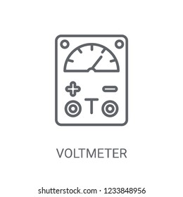 Voltmeter icon. Trendy Voltmeter logo concept on white background from Science collection. Suitable for use on web apps, mobile apps and print media.