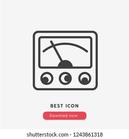 voltmeter icon vector. Electric symbol.  Linear style sign for mobile concept and web design. voltmeter symbol logo illustration. vector graphics - Vector.