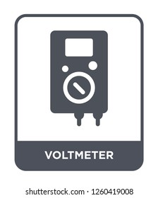 voltmeter icon vector on white background, voltmeter trendy filled icons from Electrian connections collection, voltmeter simple element illustration