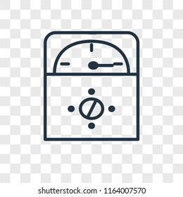 Voltmeter vector icon isolated on transparent background, Voltmeter logo concept