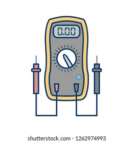 Voltmeter Vector Icon Sign Icon Vector Illustration For Personal And Commercial Use...Clean Look Trendy Icon...
