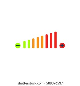 Volume adjustment. Color symbol icon on white background. Vector illustration.