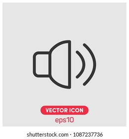 Volume, Audio Line Symbol Vector Icon Illustration For Web And  Mobile App.Ui/Ux.Premium Quality.
