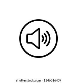 volume button - media icon vector