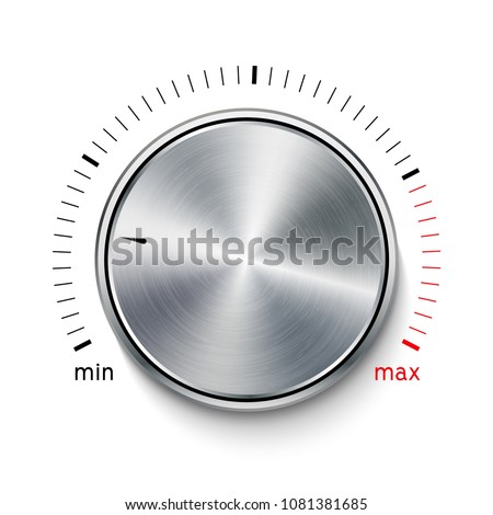 Volume Button Metal Texture Steel Chrome Stock Vector (Royalty Free