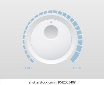 Volume button music knob