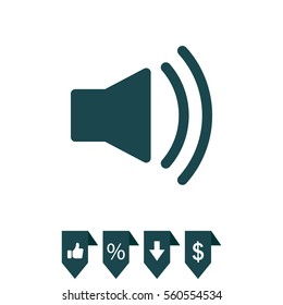 Volume high icon. vector design.