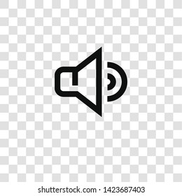 volume icon from miscellaneous collection for mobile concept and web apps icon. Transparent outline, thin line volume icon for website design and mobile, app development