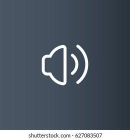 Volume icon. Sound vector