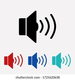 Volume icon Vector. Voice sign