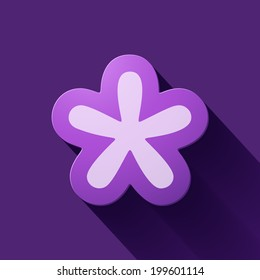 Volume icons symbol: asterisk . Colorful modern Style.