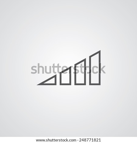 Volume Level Outline Thin Symbol Dark Stock Vector Royalty Free