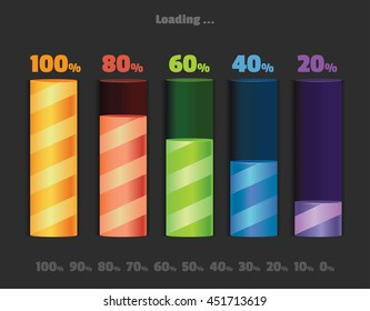 Battery Level Indicator Images, Stock Photos & Vectors