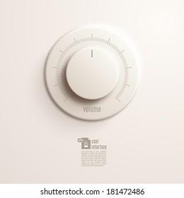 Volume music control / volume knob. Vector Illustration EPS10.