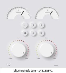 Volume panel, vector