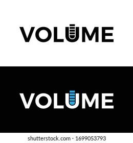Volume Typography Word Letter Logo Design Vector Template. Volume Word Logo For Business Typography Design