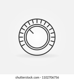 Volume vector concept icon or design element in thin line style