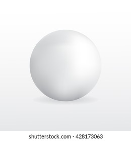 Volumetric ball on a white background. Isolated object.