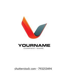 Volumetric embodiment of letters V