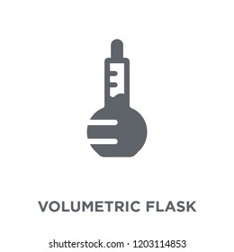 Volumetric flask icon. Volumetric flask design concept from Science collection. Simple element vector illustration on white background.